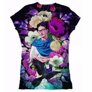 New Frida Kahlo Graphic Tee Shirt Cotton Stretch