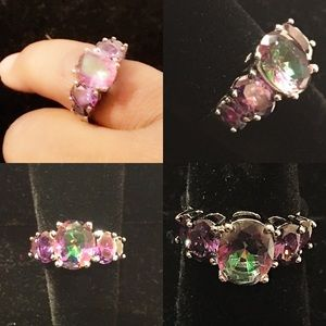 Jewelry - ❤️ Size 7 18kt  White Gold Filed Amethyst Ring