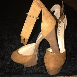 Brown Suede Heels