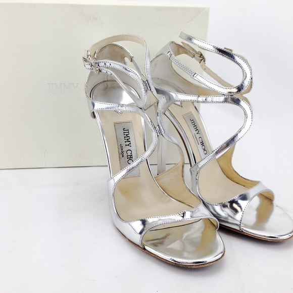 92b1f4ea9cf Jimmy Choo Shoes - Jimmy Choo Leather Metallic Silver