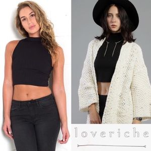 Love Riche Tops - 💕 20% OFF Love Riche Ribbed Mock Neck Crop Tank