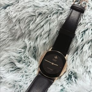 Citizen black + gold watch