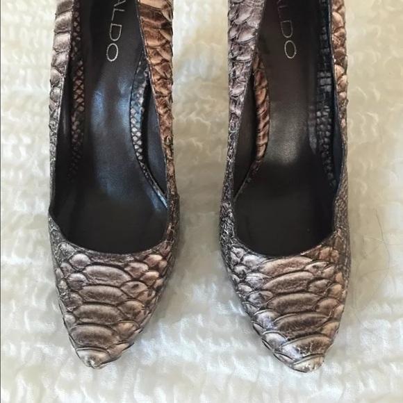 Aldo Shoes - Aldo brown snakeskin pumps 38