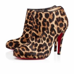 Christian Louboutin Shoes - Christian Louboutin Belle 100 Leopard Pony booties