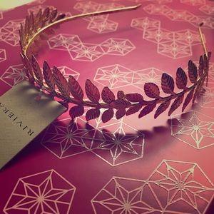 Riviera Accessories - * N E W * Metal Leaf Headband