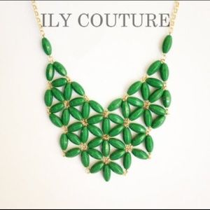 Ily Couture Jewelry - Green bib necklace