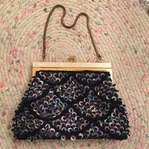 Delill Handbags - Vintage 1950s Handmade Sequin Evening Bag by Delil
