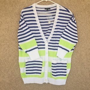 Sweaters - Multicolor stripes  Cardigan