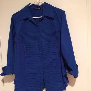 Tops - Blue bottom down blouse