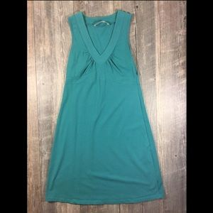 Athleta teal v-neck dress