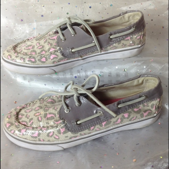 Sperry Other - 🎀 GIRLS Sperry Sequin Leopard Top-Siders