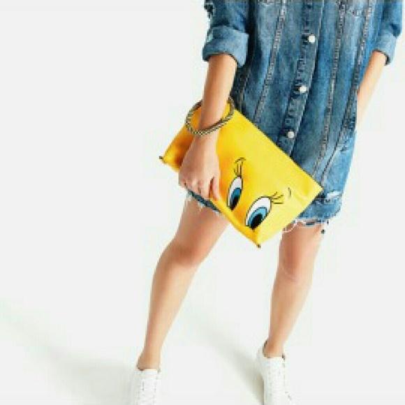 Zara Bags - NWT Zara tweety clutch yellow