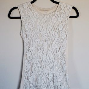 Tops - Lace Dress Shirt