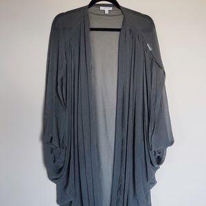 CAMEO Jackets & Blazers - Designer CAMEO Grey Chiffon Jacket