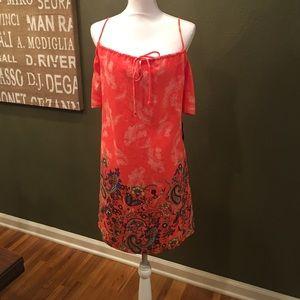 Teeze Me Dresses & Skirts - NWT Paisley Cold Shoulder Peasant Dress 10-12