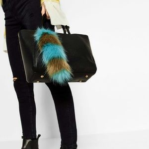 Zara fox tail bag charm