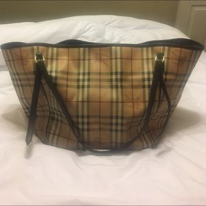 Burberry Bags - Burberry Haymarket Canterbury tote