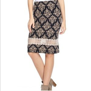 🆕Host Pick Plus Size Damask Lace Pencil Skirt