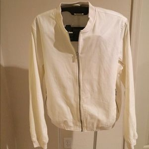 Topman Other - TOPMAN white cotton Varsity jacket