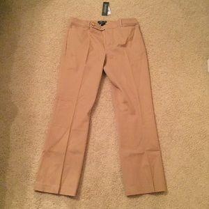 Lauren Ralph Lauren Pants - NWT Lauren Adelle Khaki Trousers