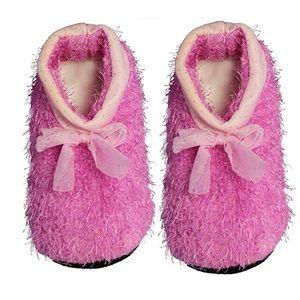 Shoes - Soft Bowknot Plush Anti-slip Slippers Socks