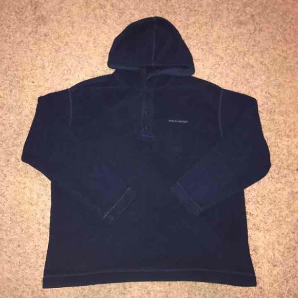 34086a95 Vintage 90s Polo Sport fleece hoodie
