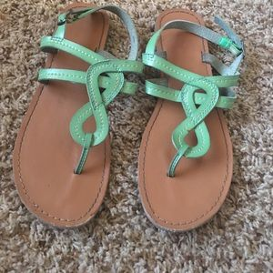 Spring Green Thong Sandal