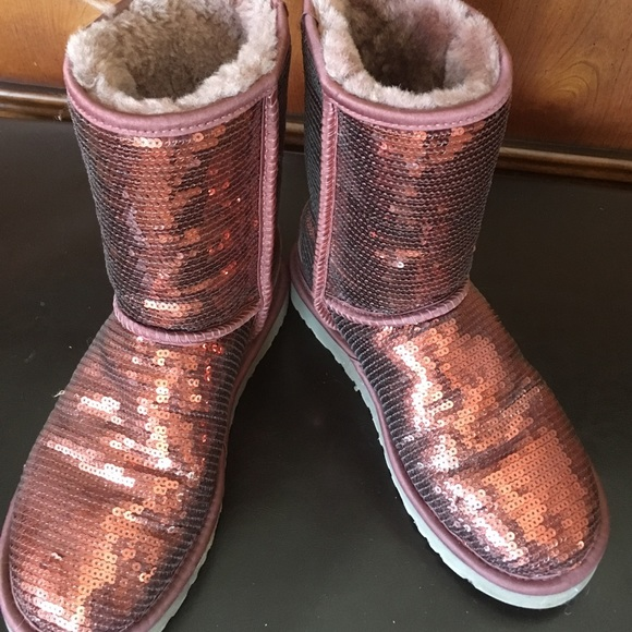 sequin uggs size 5