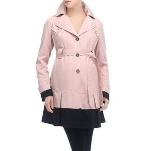 Momo Maternity Jackets & Blazers - MOMO Maternity Trench Coat