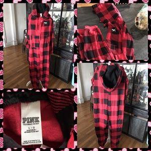 PINK Victoria's Secret Other - BNWT PINK Victoria's Secret Red Plaid Onesie