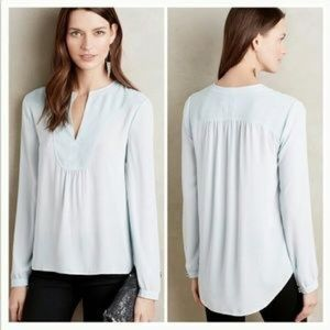 Anthropologie HD in Paris Blue Thelma Blouse