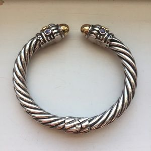 Jewelry - sterling silver and 14k gold hinge bracelet