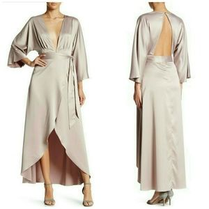 L'atiste Dresses & Skirts - L'atiste Satin Wrap Maxi Dress