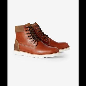 Express Other - Express men's Brown Leather Lace-Up Boot Cognac 9