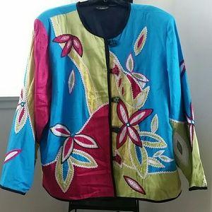 Allure Jackets & Blazers - Allure appliqued jacket