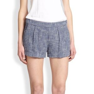 Joie 'Leander' Tweed Shorts Navy 12 NWT! $198