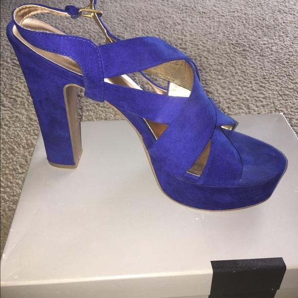 ab377430d8c0 Mossimo cobalt blue platform heels from Target. M 589214f8ea3f36505d037ed1