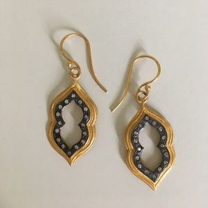 Earrings w/Pave Detail