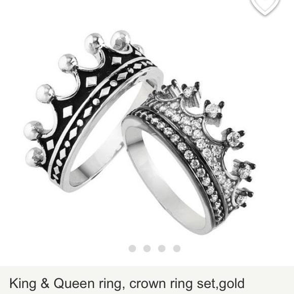 Jewelry Crown Rings Silver Queen Rings King Rings Poshmark