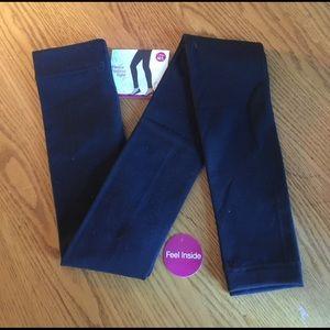 Studio Pants - Fleece Footless Tights Leggings sz m/l