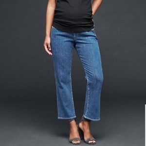 GAP Denim - Demi Panel Crop Kick Med Wash Maternity Jean