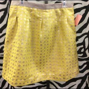 Polka dotted women's Loft skirt