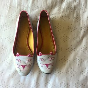 Charlotte Olympia Shoes - Charlotte Olympia Kitty Marbled Flats