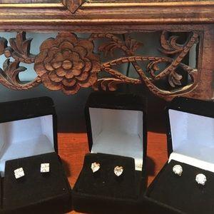 Jewelry - Bundled Swarovski &Cubic Zirconia Earrings