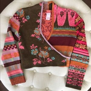 Oilily Sweaters - Oilily Cropped Wrap Sweater size S