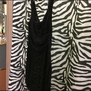 Women's black lace dress