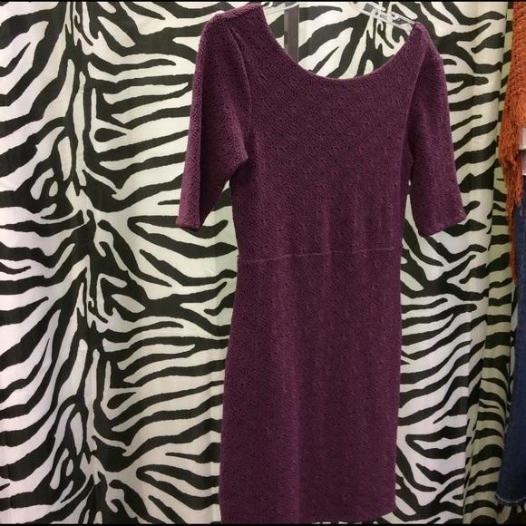 Free People Dresses & Skirts - Purple textured dress