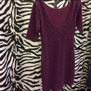 Free People Dresses - Purple textured dress