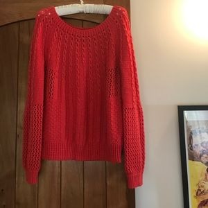 Orange Anthropologie Guinevere sweater