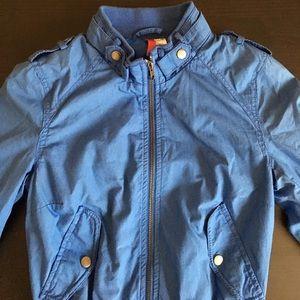 H&M Bomber Jacket Zip Up Size 2 Blue